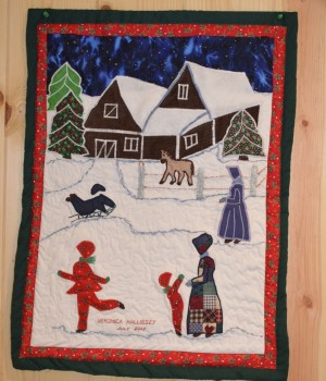 Veronica Hallissey's wall quilts will be on display in the Narrow Gallery in the Oak Park Arms retirement community.