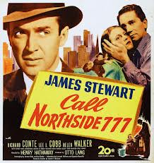 "Movie ""Call Northside 777"" presented for Oak Park Arms' monthly 'You be the Critic' movie view and review."