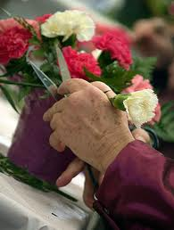 In garden therapy, participants will create beautiful floral arrangements at the Oak Park Arms retirement community.
